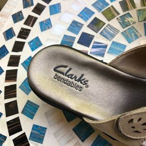 Clarks Shoes - CLARKS BENDABLES ELLA CHORUS LEATHER HEELED SANDAL